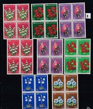 KU 4X YEMEN 1964 - MNH - FLOWERS - FLORA