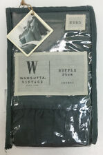 Wamsutta Vintage Gauze Ruffle Euro Pillow Sham in Aegean Green