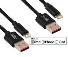 2x Apple MFI ZERTIFIZIERT Lightning Kabel USB für iPhone X 8 7 6 6S 5 Ladekabel