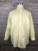 Brooks Brothers Madison Solid Yellow Mens B/D L/S Supima Cotton Shirt 17-34
