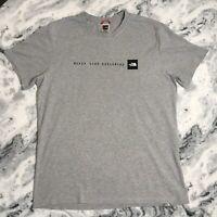 The North Face Men's Grey Never Stop Exploring Tshirt Tee Top Medium M
