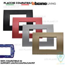 Placche Bticino LIVING LIGHT Placchette Compatibili Placca 3 4 7 moduli + colori