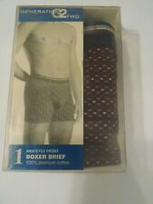 Mens Vintage 100% Cotton Boxer Shorts, Generation 2 ,size Small, Made In Usa.