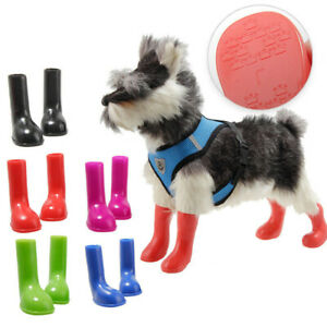 Pets Dog Shoes Paw Protector Anti-Slip Waterproof Puppy Rain Boots Booties S M L