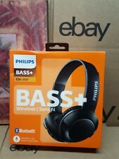 Philips - SHB3075BK - BASS+ Wireless Bluetooth On-The-Ear Headphones with Mic