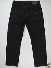 Hose Tommy HILFIGER Drill Jeans Zip Fly 32 L30 schwarz FEHLER/I392