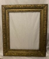 ORNATE ANTIQUE GOLD GESSO 3-PART FRAME 22 X 26 Wood Frame