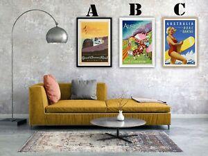 Australia Vintage Advertising Art Print Poster Set. Choice of 3 Great Prints