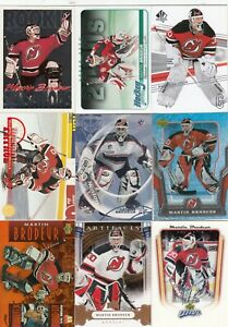 MARTIN BRODEUR a lot of 9 DIFFERENTS CARDS INSERTS near mint   LOT 91