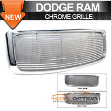 Fits 02-05 Dodge Ram 1500 2500 3500 Chrome Mesh Front Grill Grille