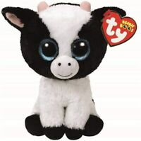 Ty Beanie Boos Glitter Eye Cow Butter Dish Plush Stuffed Animal Kids Gift Toy