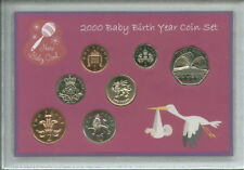 New Born Baby Girl Tubé coin BU Ensemble Cadeau 2000 (Parent Maman Papa Keepsake Présent)