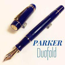 Parker Duofold Centennial Size Blue 18K nib Fountain Pen