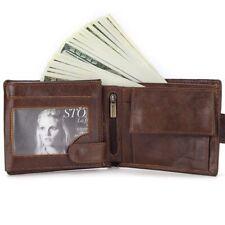 Men's Short Wallet Genuine Leather Coin Purse Credit Card Holder Money Pocket