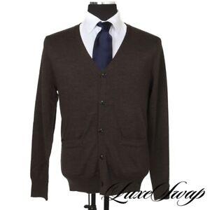 NWT Spier & Mackay FW19 Cigar Brown Merino Wool Cardigan Sweater L ESSENTIAL NR