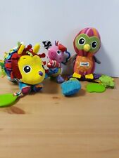 Lamaze x3 soft toys pram baby toys porcupine owl pig
