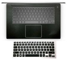 Matte black Palmrest Sticker + Keyboard Cover Protector for Dell XPS 15 series