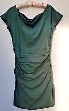 Boden off Shoulder Ruched Jersey Dress UK 18 US 14 EU 44 Dark Green