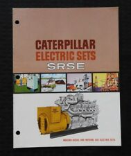 """1953 CATERPILLAR """"SRSE"""" STATICALLY-REGULATED EXCITED ELECTRIC SET BROCHURE NMT"""