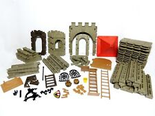 116 Pieces from PlayMobil 1977 Medieval Knights Castle Building Set 3450