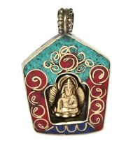 Turquoise pendant Lapis Pendant Buddha Pendant Tibet Pendant Nepal Pendant Om
