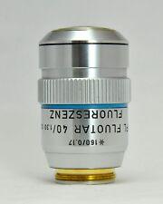 Leitz Wetzlar Microscope 40x 1.3NA Oil Imm Objective Lens NPL Fluotar
