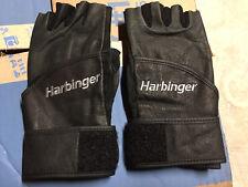 Harbinger Wristwrap Weight Training Gloves Washable Leather