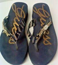 GUESS Womens Wedge Platform Thong Sandals Flip Flops Comfort Heel 6 1/2M