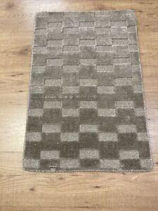 2' x 3' Handmade Rug Wool & Bamboo Silk