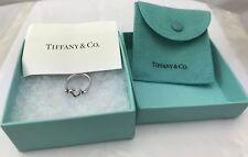 Tiffany & Co Sterling Silver 925 Elsa PERETTI SPAIN OPEN HEART RING Size UK H1/2