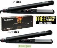 "Solano Sleek heat 450 1'' & 1.25"" inch Professional Ceramic Tourmaline Flat Iron"