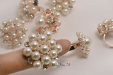 Charms 10pcs Mix Vintage Pearl Rhinestone Gold P Rings Wholesale Jewelry Lots