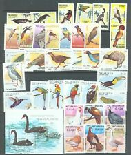Thematics, Birds Nicaragua 5 complete sets and one miniature sheet 1981-91 MNH