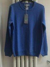 Lyle And Scott Blue Lambswool Ladies Long Sleeve Golf Jumper XL
