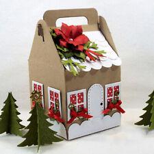 Metal Cutting Dies Christmas House Box Gift DIY Embossing Stencil Scrapbook Card