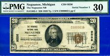 *MEGA RARE 1929 $20 National (( Serial # 3 )) PMG VF-30 (( Negaunee MI ))CH#9556