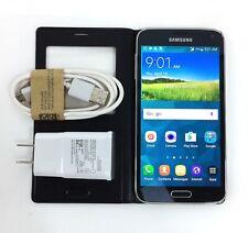 Samsung Galaxy S5 SM-G900P - 16GB - Black (Sprint) Folio Clean ESN **