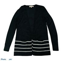 ANN TAYLOR LOFT Women's Cardigan Sweater Sz XS Dark & Light Gray Long Sleeves