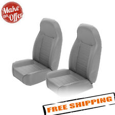 Smittybilt 44911 Pair of Gray Denim Front Bucket Seats - 76-17 Jeep Wrangler CJ
