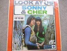 Sonny & Cher - Look At Us Atantic ATL.5036 1965 Non-gatefold sleeve LP