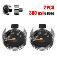 2Pc 300Psi Hpa Paintball Marker Air Pressure Micro Gauge 1/8 Npt Thread Co2