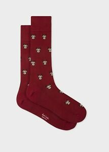 NWT Paul Smith luxe burgundy dog socks. Made in Italy. Yours for?