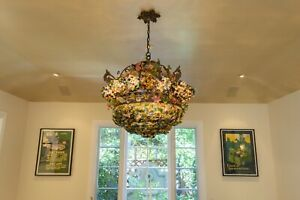 Vintage Murano Glass Chandelier And Matching Sconces