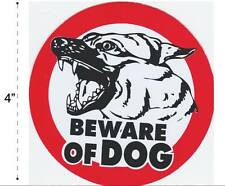 Beware Dog Vinyl Sticker Decal Warning Safety Sign Store Office Building Home