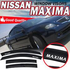 For 09-15 Nissan Maxima Slim Style Smoke Window Visor Rain Deflector 4Pcs