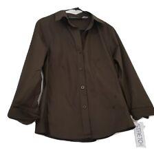 Brand New Harve Benard by Benard Holtzman Womens Career Blouse Size L Brown