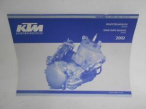 New Genuine KTM 125/200 SX MXC EXC SGP-GS Spare Parts Manual Engine 2002 320864