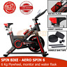 Spin Sport Bike Home Gym Exercise Fitness Cardio Indoor Aerobic Machine Black