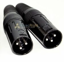 2 Pack 3 Pin Male XLR Mic Microphone Cable Cord Replacement Plug End Connector
