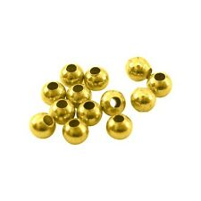 Paket 200+ Antik Gold Messing 3mm Spacer Zwischen Perlen HA15895